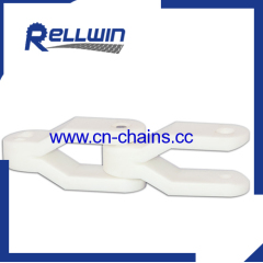 Plastic crate conveyor chain for case