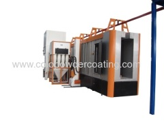 automatic powder coating paint booth