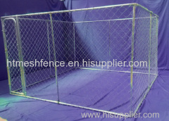 10ft Long Chain Link Mesh Dog Kennel with waterproof toproof cover