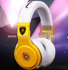 Monster Beats by Dr.Dre Pro High Performance Lamborghini Headphones White Yellow