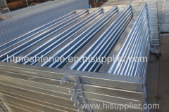 Galvanized Oval Bars Corral Horse Panel
