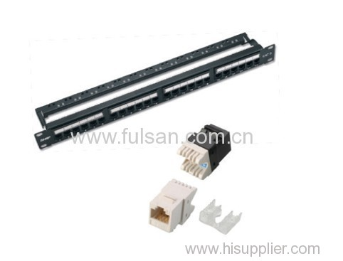 "19"" UTP CAT5e Patch Panel 24 Port Patch Panel made in china"