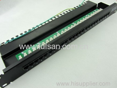 RJ45 CAT6 48 Port Patch Panel with Back Bar