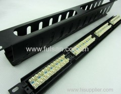 "19"" 1U 24 Port Cat6 STP Snap-in Patch Panel"