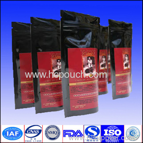 coffee package with zipper