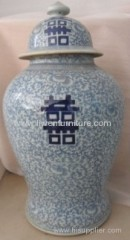 blue and white porcelain ginger jars