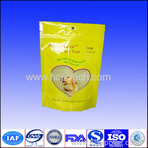plastic packaging pouch with zipper