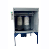 Manual powder spray coating booth