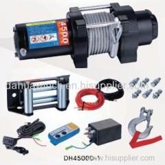 12v ATV 4500lbs electric winch