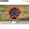 "7"" 51W Epistar 12v led lights MD-7510"
