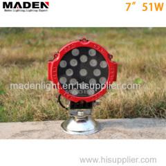 """7"""" 51W Epistar 12v led lights MD-7510"""