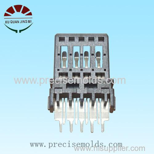 Precision plastic USB connector