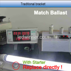 Inductance led tube lights,led tubes work with inductance ballast,led tube match 95% inductnce ballast