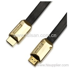 Gold Plated Double Shield Full Copper 1080P Support 3D 1.4 HDMI Flat Cables with Nylon 1.5m 2m 3m 5m 7.5m 10m 15m 20m