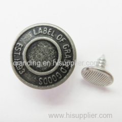 the metal button for the garments shoes and bags