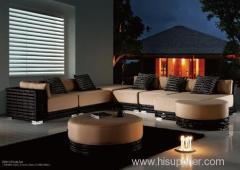 Plastic luxury rattan furniture round sofa set