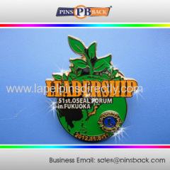 Promotional gift metal soft enamel pin