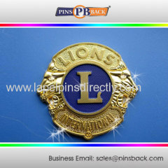 Zinc alloy unique die cast lapel pin