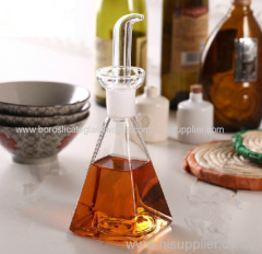C&C square borosilicate glass cruet for oil and vinegar storage