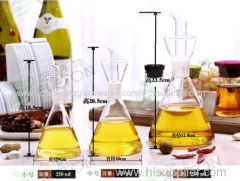 C&C pure hand blown Glass Cruet for oil and vinegar storage