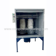 powder coating booth exported to Peru