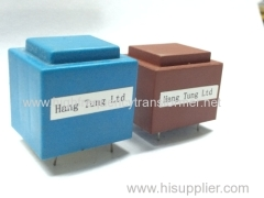 vertical type high frequency transformer