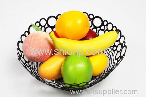 round metal wire l mesh fruit basket