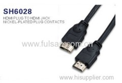 Hot Selling 1.4V A female to A male HDMI CABLE with 3D supported