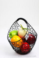 fashion design metal mesh bread fruit baskets