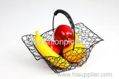 fil métallique de design de mode des paniers de fruits