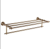 brushed nickel antique bronze bath shelf towel rack