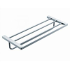Bath shelf towel rack