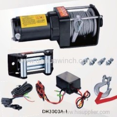 DC 12v electric ATV winches 3000 lbs