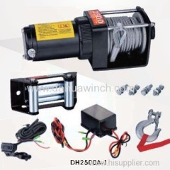 12v electric ATV winches 2500 lbs