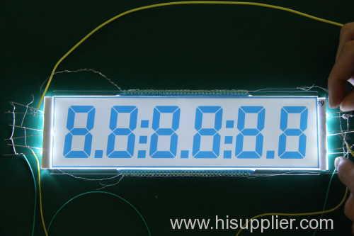 6*1 digital Oil meters TN LCD display