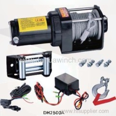 DC 12v electric ATV winches 2500 lbs