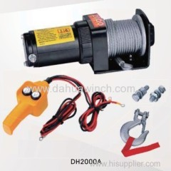 DC 12v electric ATV winches 2000 lbs
