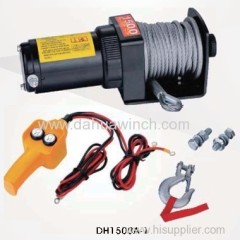 12v electric ATV winches 1500 lbs