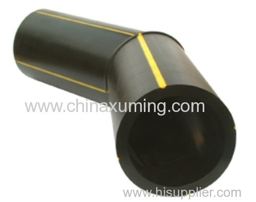HDPE Butt Fusion Welding 45 Degree Elbow Pipe Fittings