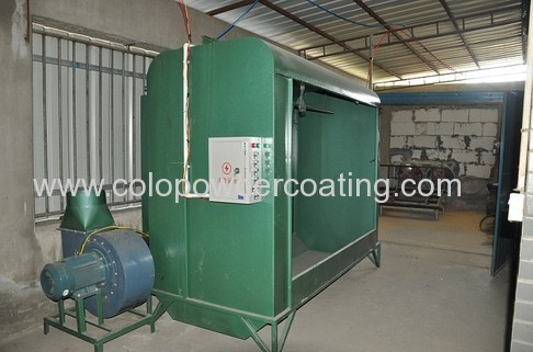 homemade powder coating booth system for small business and newcomers
