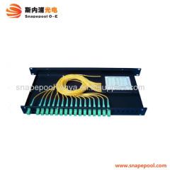 19'' 1U rack mount plc optical splitter