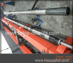 Drill stem testing downhole tester valve