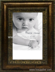 "Brown Border PS Picture Frame For 4""*6"""