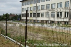 Painting wire mesh panel fence