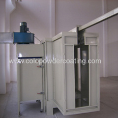 powder paint coating booth