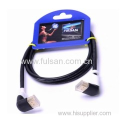 1080p +ethernet+3d for bluray hdtv right angled hdmi cable