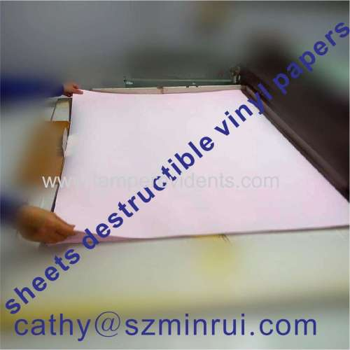 Sheets of Ultra Destructible Vinyl Label Papers,Tamper Evident Stickers on Sheets