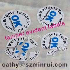 Custom void warranty stickers