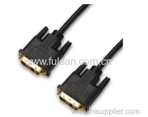 DVI 18+1 to DVI 18+1 male HDMI cable for computer