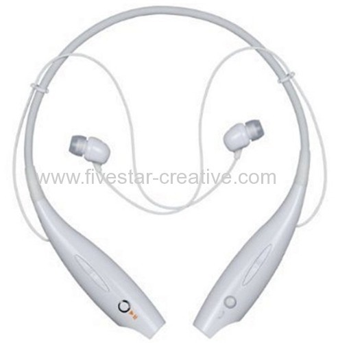 LG Tone Bluetooth Behind-the-neck Headset Headphone HBS-700 With Microphone in White orange